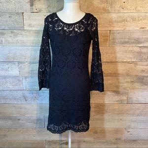 Roxy black lace dress in size small